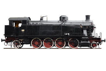 Old train with clipping path
