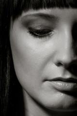 Closeup of sexy female face