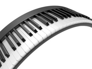 3d illustration black & white piano keys