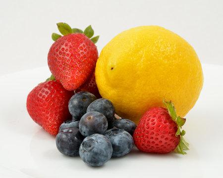 Blueberries Stawberries Lemon