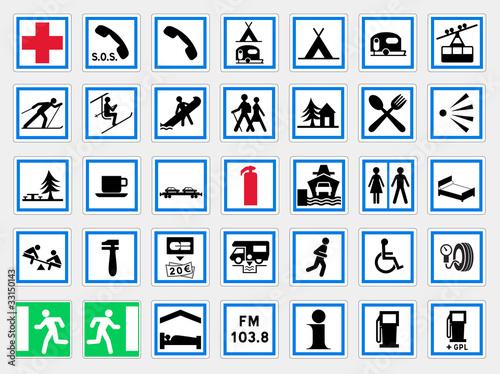 panneaux d 39 indication 2 fichier vectoriel libre de droits sur la banque d 39 images. Black Bedroom Furniture Sets. Home Design Ideas