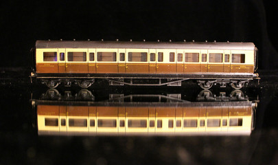 Model train carriage brown