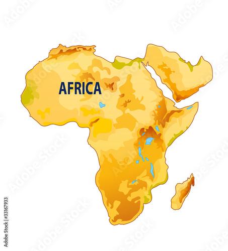 Carte Afrique Vectorielle.Carte D Afrique Stock Image And Royalty Free Vector Files