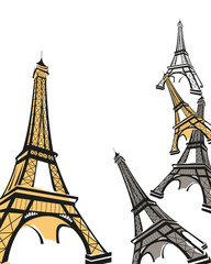 Abstract background with Eiffel Tower