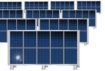 Placas solares aisladas