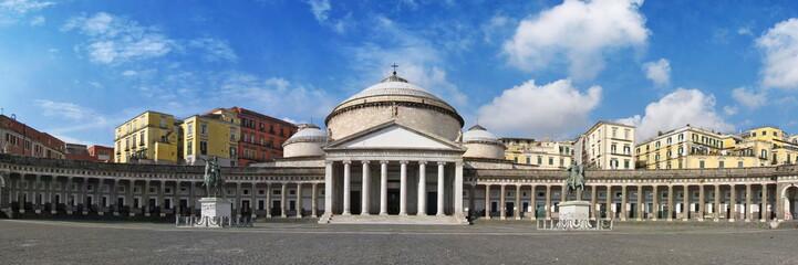 Fotobehang Napels Plebiscito Square in Naples