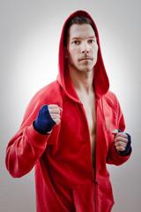 Boxer mit Bandagen