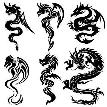 Design dragon tribal tattoo Tattoos Book: