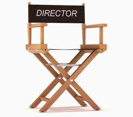 Cinematography: directors chair on white