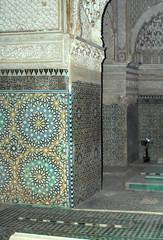 Tombeaux saadiens à Marrakech - Salle des douze colonnes