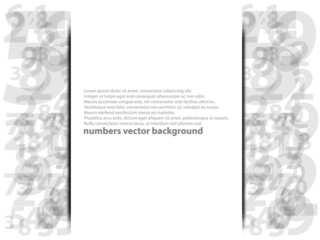 Numbers with abstract background