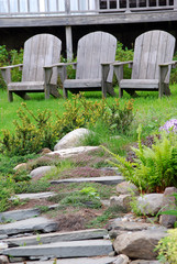 Adirondack chairs waiting