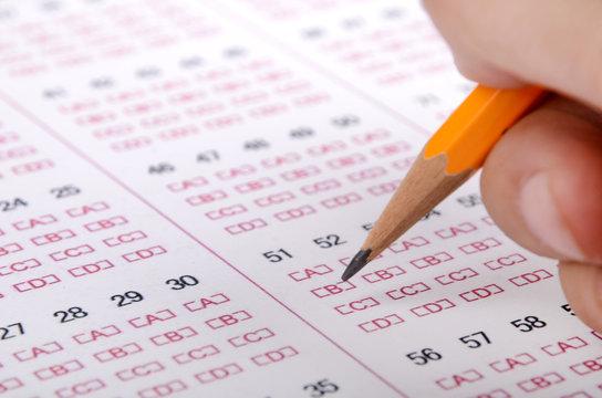 Pencil on test