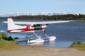 Floatplane on Beluga Lake in Homer Alaska