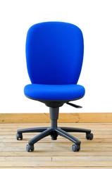modern blue office chair
