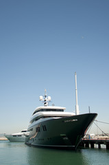A Super Yacht Berthed in Gibraltar
