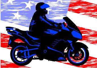 Keuken foto achterwand Motorfiets American motorcycle