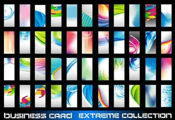 ollection of corporate business cards background