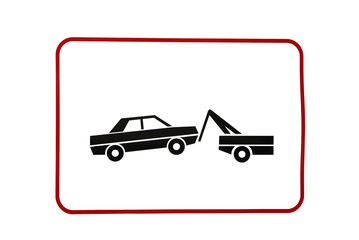 warning tow away zone sign