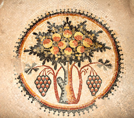 Floor mosaics in Madaba, Jordan