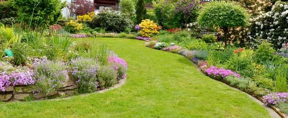 Fond de hotte en verre imprimé Pistache Im Garten entspannen