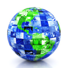 Earth made of photos