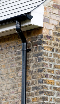 New guttering and drainpipe