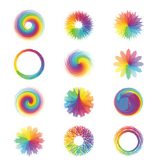 Colorful abstract designs