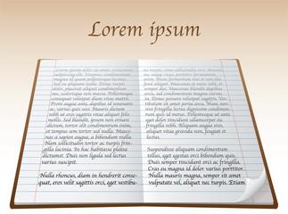 lorem ipsum in notepad - illustration