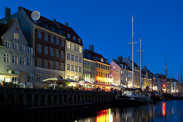 Kopenhagen Nyhavn am Abend