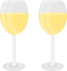 dwa szampany