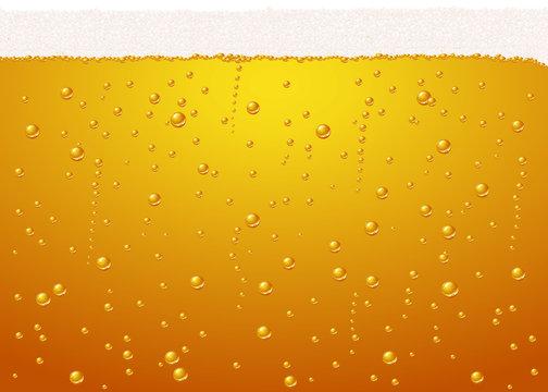 Vector beer texture - bubbles very defined