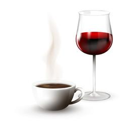 coffee and wine
