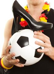 high heel auf fussball