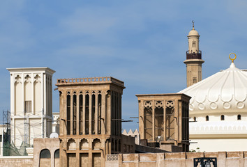 windtowers, mosque in Dubai