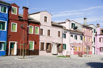 Houses in Burano Island