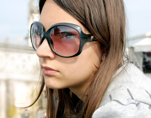 Girl portrait, Padua in sunglasses