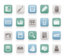 Office tools Icons - vector icon set 3
