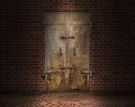 古い鉄の扉