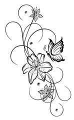 Tattoo Motive Blumen Schmetterlinge Tattoo Bilder Blumen