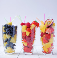 Summer fruit smoothies