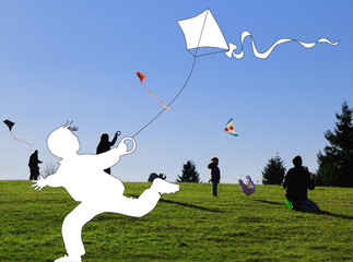Kite flying aurumn