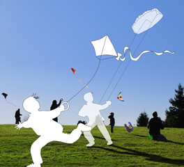Kite flying autumn