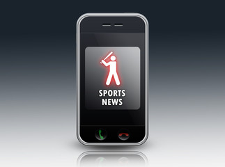 "Smartphone ""Sports News (Baseball)"""