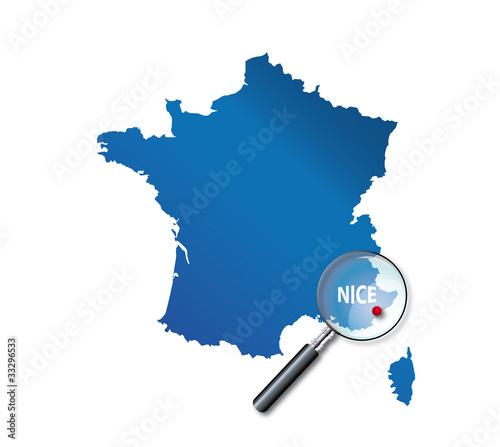 """""""Nice : Localisation sur carte de France - département des Alpes-"""" fichier vectoriel libre de ..."""