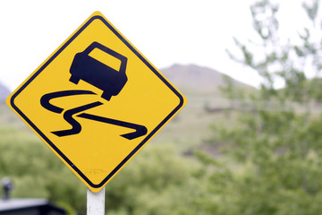 Signage - Slippery Road