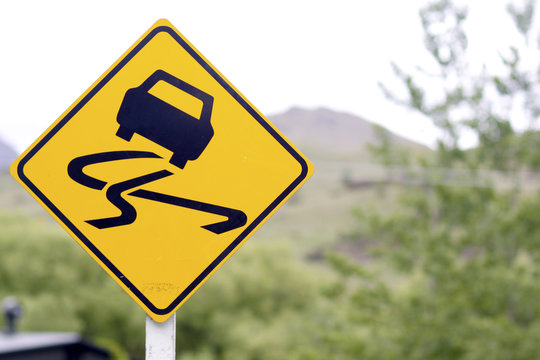 Signage - Slippery Road