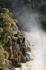 River in flood, South Esk, Launceston, Tasmania
