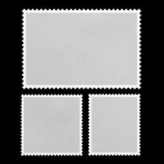 Blank Postage Stamp Framed