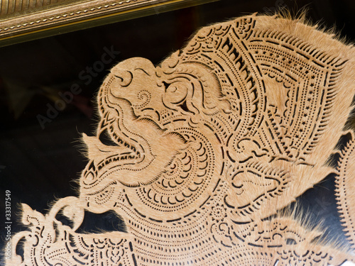 Quot thai leather carving art stock photo and royalty free